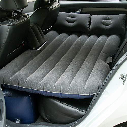 Sinbide Auto SUV Auto Luftmatratze aufblasbare Matratze Auto Matratze mit Pumpe Luftbett Bewegliche Dickere Luftbett Auto Matratze für Reisen Camping Outdoor (schwarz)