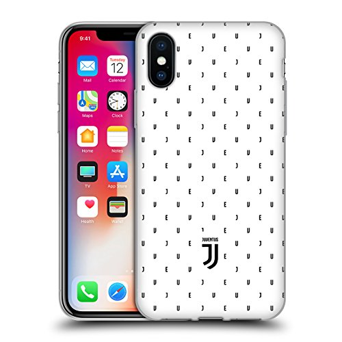 Offizielle Juventus Football Club Logotype Lifestyle 2 Soft Gel Hülle für Apple iPhone 6 / 6s Weisses Logo Mustertyp