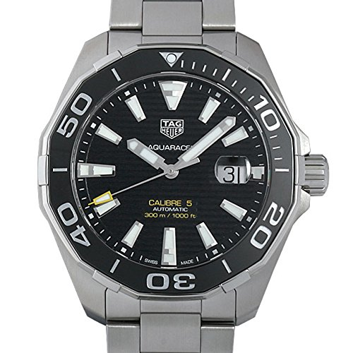 Tag Heuer Men 'S Watch 43 mm Automatic Stainless Steel Bracelet and Case and Black Dial WAY201 A. BA0927