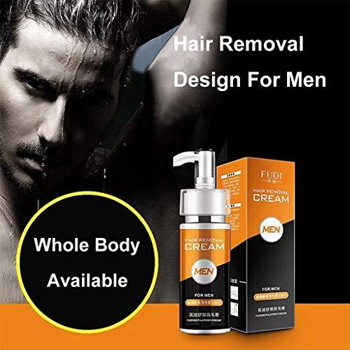VNEIRW Premium Enthaarungscreme Männer, Haarentfernungscreme, Hair Removal Cream auf Gesicht, Intimbereich, Unterarm, Bein, Schmerzlose Einfache Haarentfernung, Lässt die Haut sanft 100ml (A)