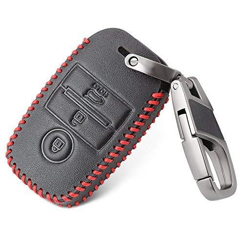 Bucada Auto-Schlüssel Keyless Hülle Key Cover Case Etui Leder (Kia Zubehör Soul)