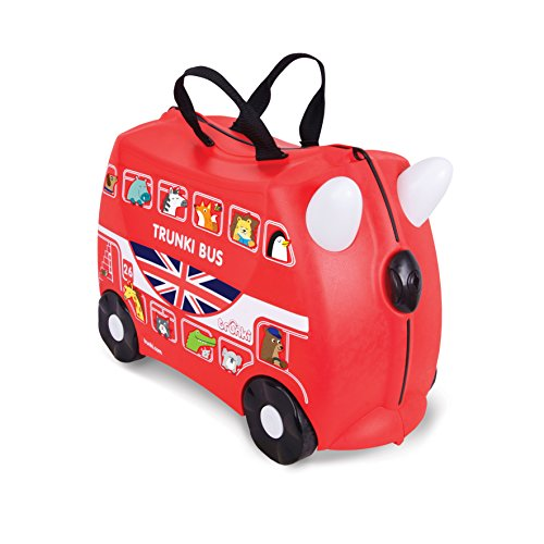 Trunki Boris the Bus - Maleta infantil (Negro, Rojo)
