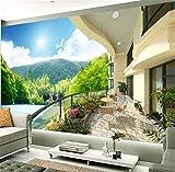 GBHL 3d tapetenwandbilder benutzerdefinierte wohnzimmer schlafzimmer berg wasser zeigen balkon landschaftshauptdekoration, 430x300 cm (169,3 by 118,1 in)