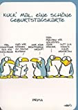Geburtstagskarte Kein Geschenk Pinguine
