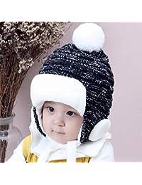458788169c9cc REIA Bebé niños niñas Sombrero con Orejeras niños cálido Invierno Espesar  Fleece Beanie Sombreros Grandes Regalos para 2-24 Meses…