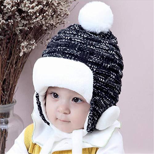 MS.REIA Baby Mädchen Jungen Hut Mit Earflap Kinder Warme Winter Verdicken Fleece Beanie Hüte Große Geschenke Für 2-24 Monate Babys 2 stücke Crazy Fleece Hüte