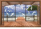 14 Möwen Fenstersticker Milchglasfolie Fensterfolie Dekorfolie A4 46 - 199 mm Motiv - weitere Motive finden Sie im Angebot