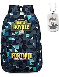 1c944d992d0 Comtervi Fortnite School Backpack,Fortnite School Bag Student Stylish  Unisex Canvas Laptop Book Bag Rucksack Daily Bag for Teen Boys and…