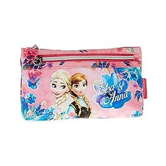 Disney Frozen Estuche portatodo Plano, Color Rosa, 22 cm (Karactermanía 30032)