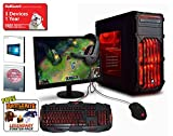 ADMI ULTRA GAMING PC With Monitor, Keyboard, Mouse & Headset - AMD FX-8300 High Spec Red LED Home, Family, Multimedia Desktop Gaming Computer with Platinum Warranty: Powerful Eight Core 4.20GHz Turbo CPU, NVIDIA GTX 1050 2GB HDMI Graphics Card, 8GB 1600MHz DDR3 RAM, 1TB Hard Drive Storage, HDMI Output 1080p, High Speed USB 3.0, 150Mbps WiFi included, Pre-Installed with Windows 10 - Including Gaming Keyboard, Mouse, Headset & 23.6 Inch Monitor