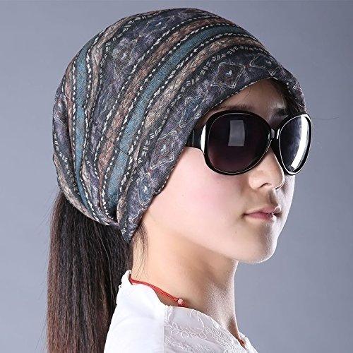 Primavera Estate donna hat-cappuccio traspirante chokeholds turbante cappuccio di pelo