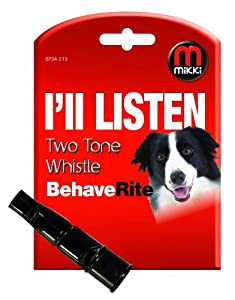 Mikki Training Two Tone Dog Whistle for Dog Obedience and Recall Training
