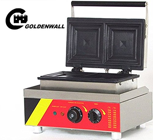 Cgoldenwall Np-535 2 pcs Commercial gaufrier électrique machine à Gaufres No-stick Belgian Waffle Baker machine appareil à croque-monsieur Panini machine à 110 V/220 V Certification CE