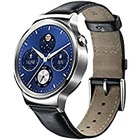 Huawei W1 Stainless Steel Classic Smartwatch with Leather Strap