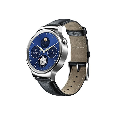 Huawei 115016.0 Stainless Steel Classic Smartwatch with Leather Strap