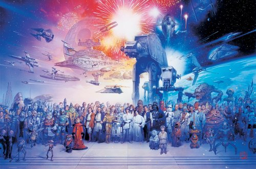 Empire, 312327, Poster, motivo: Star Wars cast completo