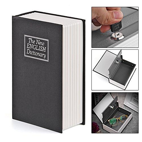 Schmuck-lock-box (Buch Safe mit Zahlenschloss, ALLOMN Dictionary-förmigen Spardose Versteckte Secret Security Lock-up Sparschwein mit Schlüssel für Münzen Cash Geld Schmuck)
