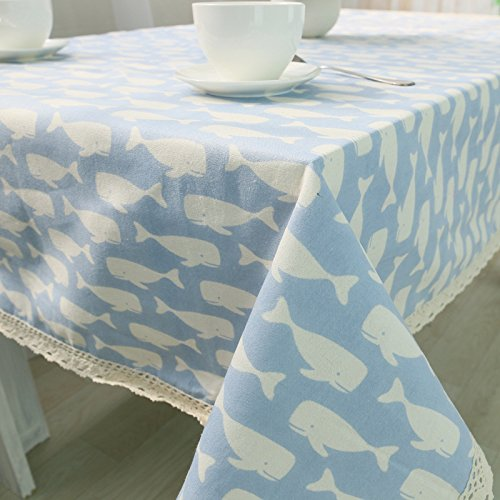 MQZM Aggiungere atmosfera accessori per la casa Il cotone e il lino tovaglia placemats home tovaglia tovaglia coperchio tavolo asciugamano,luce blu,100*140