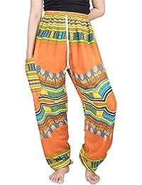 Lofbaz Pantaloni Coulisse da Donna Harem Boemo Casual Hippie Taglia Unica 48c26b68bd8e