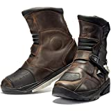 Black Rogue Adventure Mid WP Motorcycle Boots 45 Brown (UK 11)