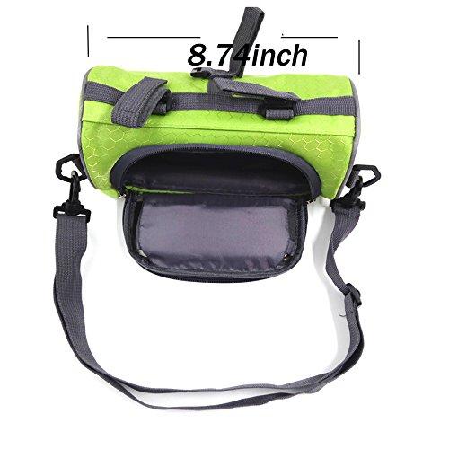 """Fahrradtasche Rahmentaschen,Dancepandas geeignet für Handy mit Größe unten 5,5"""",Fahrradtasche Lenker a-Green"""