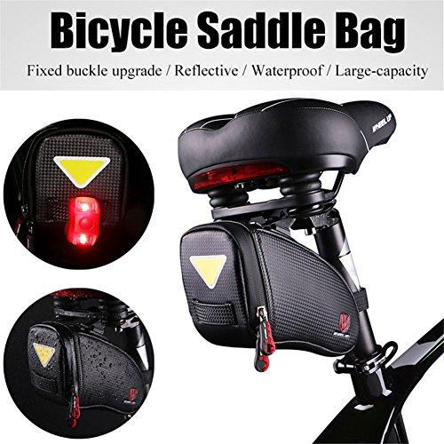 ASOSMOS Bike Satteltasche Strap On Bike Fahrrad Tasche unter dem Sitz Packungen Sitz Tasche - Tasche Sitz Dem Unter Fahrrad
