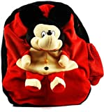 #9: Richy Toys Mickey Mouse Cute Teddy Soft Toy School Bag For Kids, Travelling Bag, Carry Bag, Picnic B