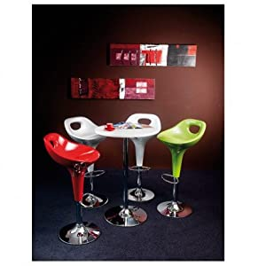 Lot de 4 Tabourets de Bar Rouge KosyForm