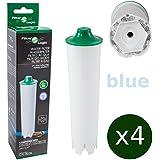 4 x FilterLogic CFL-802B - cartouche filtrante remplace JURA Claris BLUE 71311 / 71312 / 67007 et Claris ENA pour machine automatique à café / machine espresso - filtre à eau Claris bleu