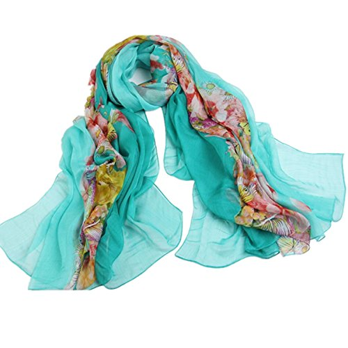 SHUNLIU Femmes Châle Fashion Longue Section Surdimensionné écharpe Protection Solaire Bleu