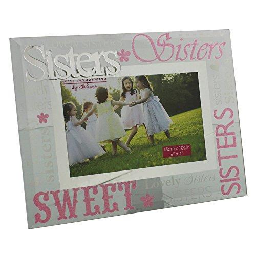 Bilderrahmen Schwestern, Lila und Pink, schönes Geschenk (Schwestern Bilderrahmen)
