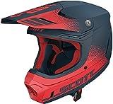 Scott 350 Evo Retro MX Enduro Motorrad/Bike Helm rot/blau 2019: Größe: M (57-58cm)