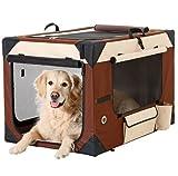 Faltbox Hunde Falttransportbox faltbare Hundebox Kennel Auto PKWHundetransportbox Katzentransportbox 61 X 46 X 43 cm