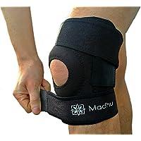 Kniebandage Aus Hochwertigem Atmungsaktiven Neopren - Größenverstellbar Bis 40 cm Umfang, Atmungsaktive, In Schwarz preisvergleich bei billige-tabletten.eu