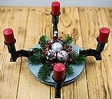 Adventskranz aus Autoteilen,Bremsscheibe,Pleuel,Zündkerzen,Kerzen, Ventil,Weihnachtsdekoration,Federn