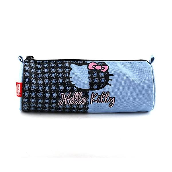Hello Kitty 11-1944 – Estuche de lápices Redondo, Color Azul Claro