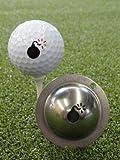 TIN CUP. GOLF BALL MARKER SYSTEM. BOMBS AWAY.