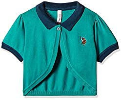 US Polo Girls Jacket (UTJK5030_Medium Green_L HS)