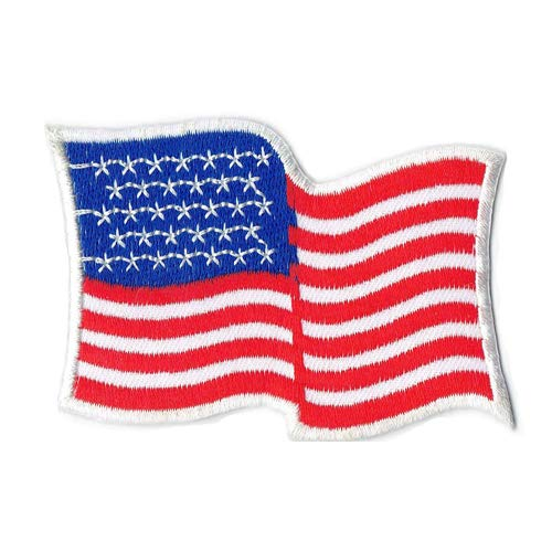 Lucky Patches, Aufnäher, Applikation, Aufbügler, Iron on Patch - Amerika, Star, Stern, USA, Stars and Stripes, Flagge, Fahne (Flagge) -