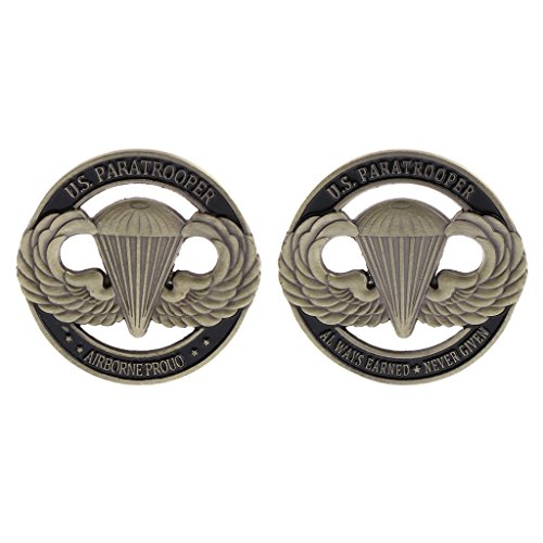ruiruiNIE Gedenkmünze Amerikanischer Fallschirmjäger US Hollow Collection Arts Gifts Souvenir - Silber-münze Lagerung