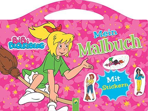 Bibi Blocksberg Mein Malbuch: Mit vielen bunten Stickern