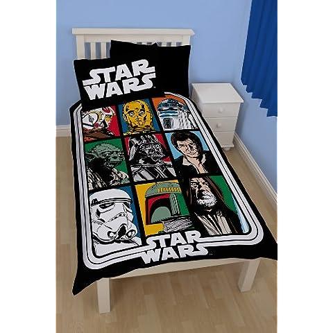 Star Wars - Juego de funda de edredón y funda de almohada, diseño de Star Wars