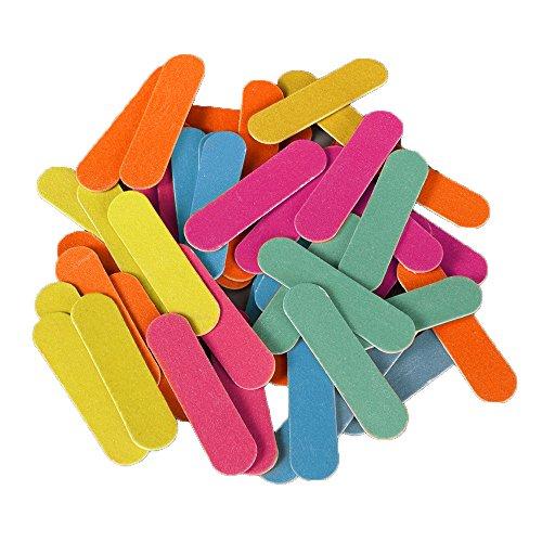 50lime per unghie in eva con brillantini, strisce lucidanti e leviganti per nail art, blocco di lime per unghie, accessorio per manicure