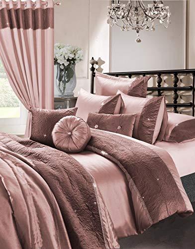 Skippys Rose Rosa Luxus Bettwäsche 200x200 cm 4 TLG. Set Rosa Bettbezug 200x200 cm + 2X Kissenbezug 50x75cm + Spanbettuch