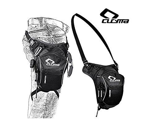 CB-1605 Motorrad Racing Beintasche von YUJOY Outdoor Tasche Bike Bag Radfahren Hip Tasche Taktische Tasche Reisetasche Werkzeugtasche, schwarz, Ultra-große Kapazität Extensional wasserdicht