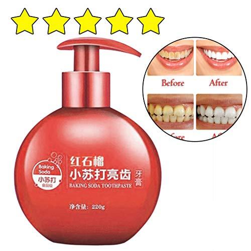 AMhomely ❤️Obst Frischer Atem/Whitening Zahnpasta❤️,Intensive Fleckenentfernung Whitening Zahnpasta/Fleckenentfernung Whitening Zahnpasta gegen Zahnfleischbluten Zahnpasta (Granatapfel) - Komplette Granatapfel