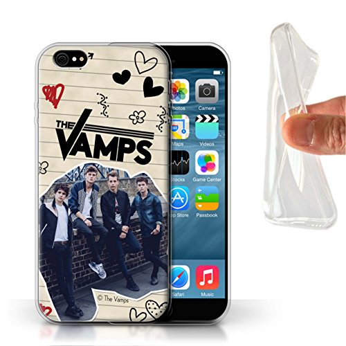 Offiziell The Vamps Hülle / Gel TPU Case für Apple iPhone 6 / Pack 5Pcs Muster / The Vamps Doodle Buch Kollektion Schwarz Stift