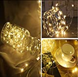 LED Lichterkette Weihnachtsdekor 20 LEDs Draht Lichterketten mit Knopfbatterie Sternenlichter Thanksgiving Party Hochzeit Flasche Tischdekoration Warmweiß 36 Pack