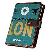 Reisetagebuch, Asten Vintage Spiral gebundenes Skizzenbuch nachfüllbar Reisende Notizbuch A5 mit leeren Seiten und Knopf für Mädchen Jungen