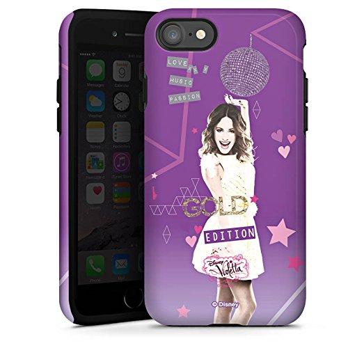Apple iPhone X Silikon Hülle Case Schutzhülle Disney Violetta Fanartikel Zubehör Tough Case glänzend